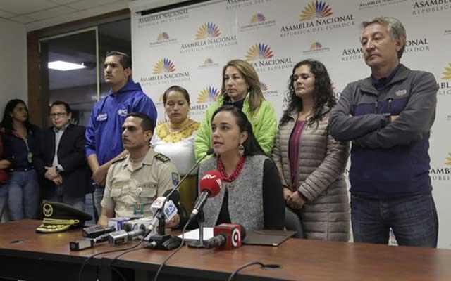 Gabriela Rivadeneira denuncia intento de atentado en su contra