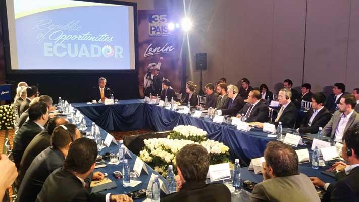 Lenín Moreno se reunió con empresarios nacionales y extranjeros