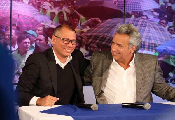 El binomio Moreno – Glas se pronunció por primera vez tras pronunciamiento del CNE