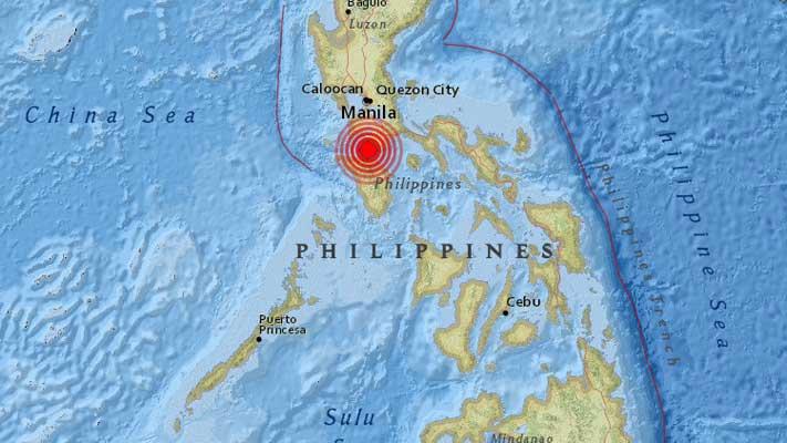 Un sismo de 5,2 sacude la capital de Filipinas