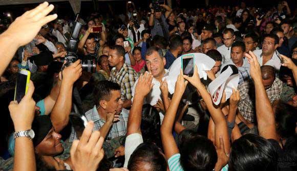 Manabí se despide de Rafael Correa