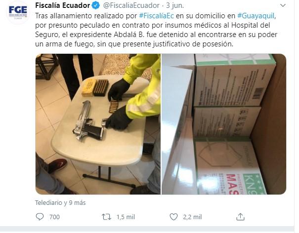 Fisalia del Ecuador - Twitter