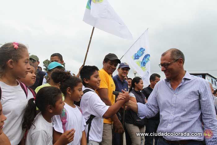 Jorge Glas, Santo Domingo, Quito, Gobierno, Inaugurar