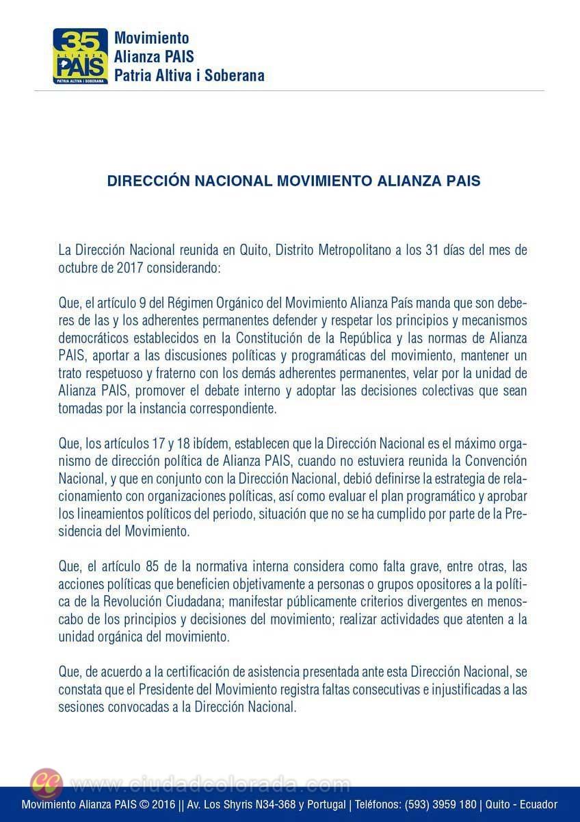 Alianza PAIS, Lenín Moreno,