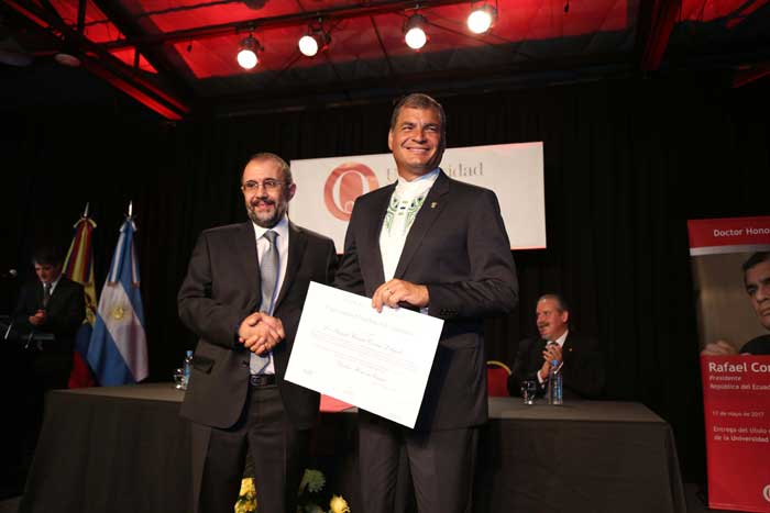 Doctorado Honoris Causa Rafael Correa