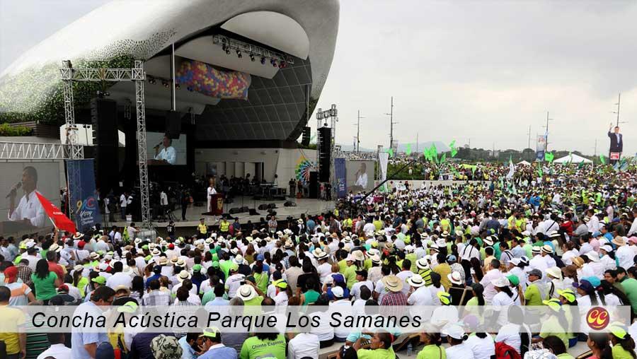 La concha acústica, en Guayaquil