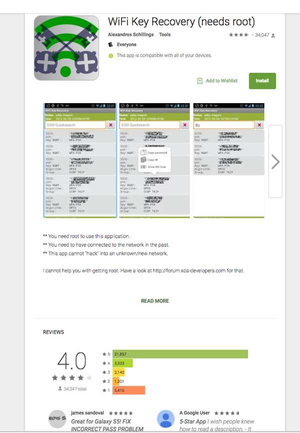 Apps para encontrar tus contraseñas en tu adroid