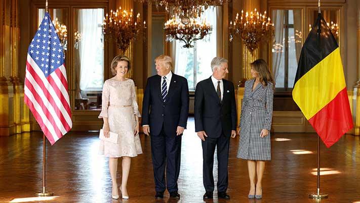 Donald Trump llega a Bruselas