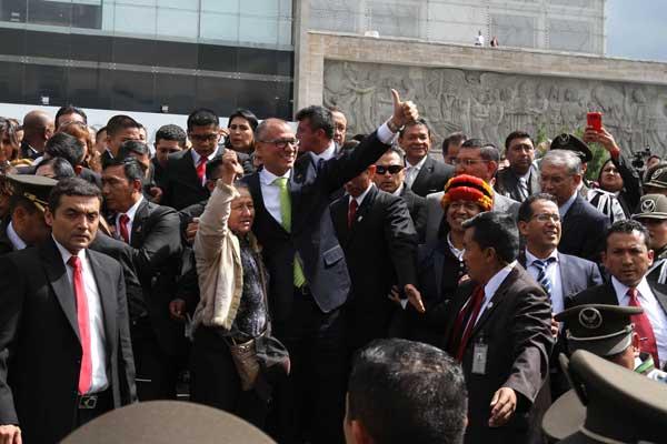 Jorge Glas comparece ante la Asamblea Nacional