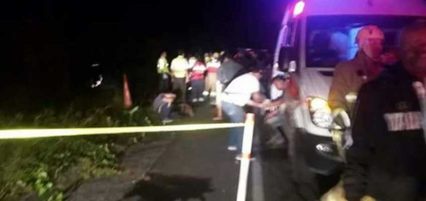 Accidente de tránsito en la vía Los Bancos - Las Mercedes