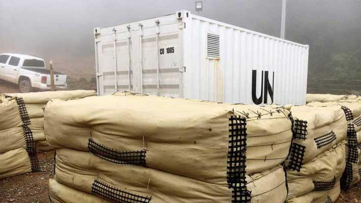 Las FARC entrega armas a la ONU