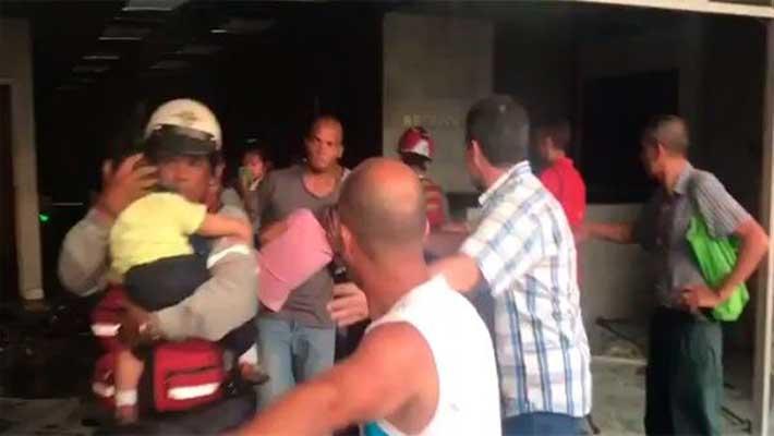 Ataque ministerio de vivienda en Venezuela