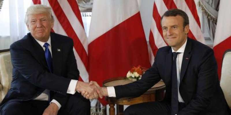 Donald Trump acepta invitación de Emmanuel Macron