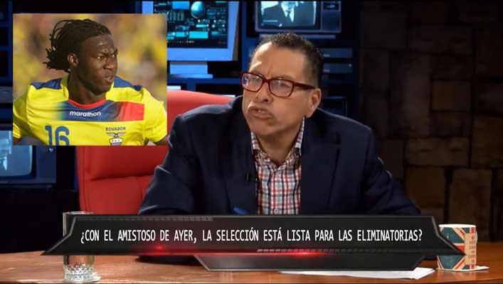 Comentarios racistas de periodista peruano a Felipe Caicedo.