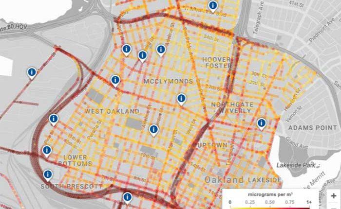 Google Maps mostrara niveles de contaminación del aire