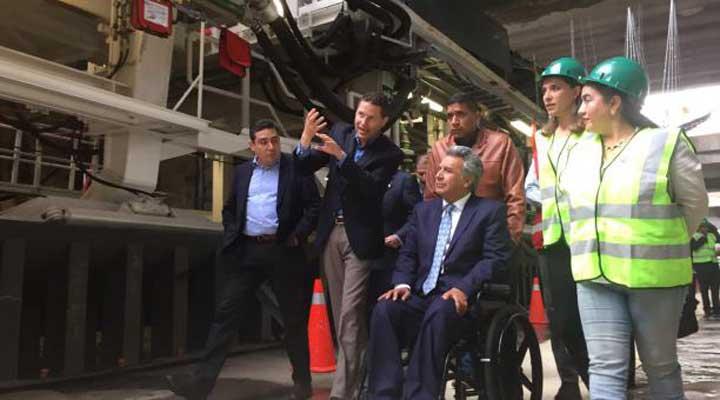 Lenín Moreno apoya proyecto Metro de Quito