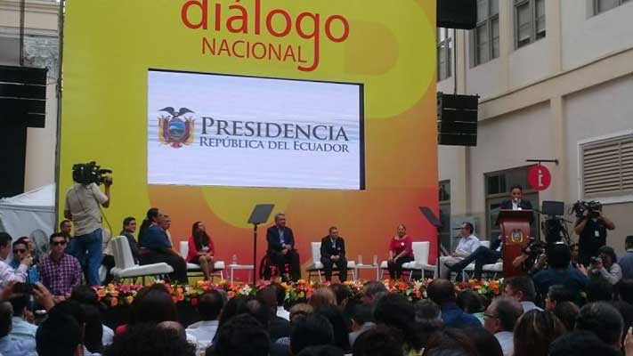 Lenín Moreno dialogo nacional
