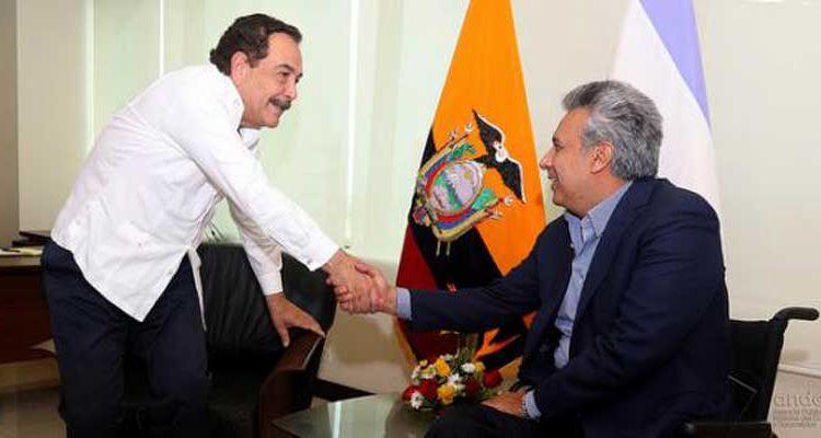 Lenín Moreno y Jaime Nebot se reúnen