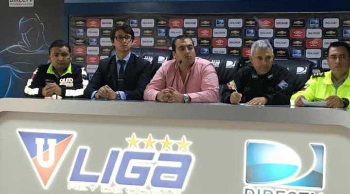 Liga de Quito prepara seguridad para el encuentro ante Barcelona SC