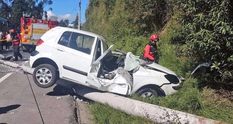 Accidente en la av. Simón Bolívar