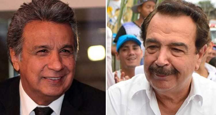 El presidente Lenín Moreno y Jaime Nebot