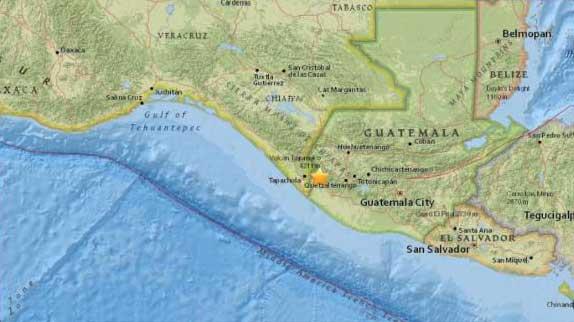 Sismo en Guatemala y México