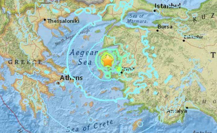 Sismo en Grecia y Turquía.