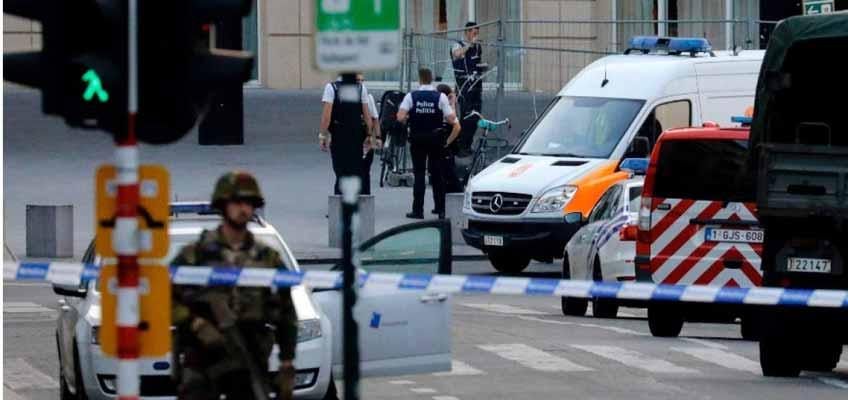 Explosión en estación de tren en Bruselas
