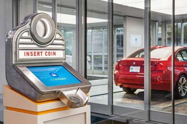 Máquina expendedora de autos en Estados Unidos