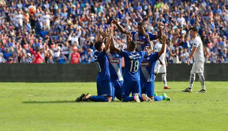 Emelec, Liga de Quito, Fútbol, Resultados