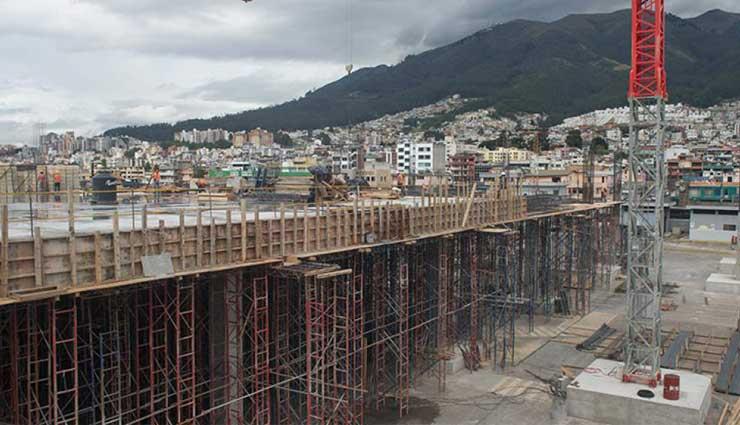 Este es el avance del centro de convenciones en Quito