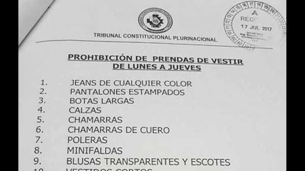 En Bolivia tribunal prohíbe minifaldas