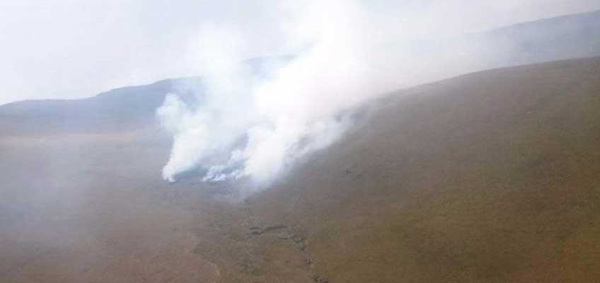 Incendio en Cerro Puntas - Quito