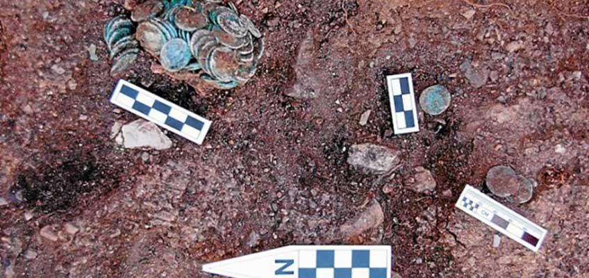 Monedas romanas halladas en Riotinto