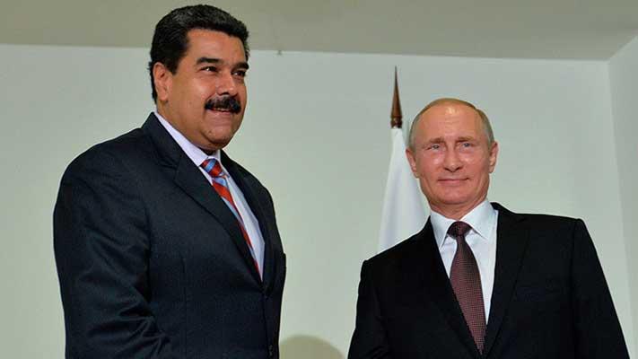Nicolás Maduro dialoga con Vladimir Putin