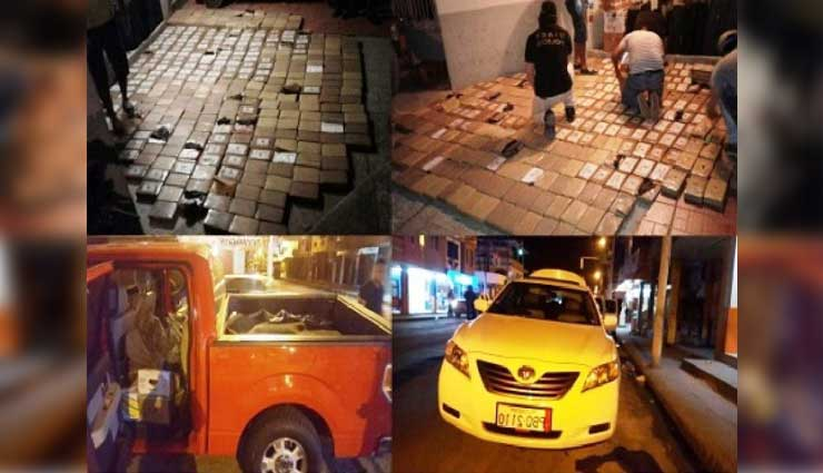 La Policía Nacional decomisó media tonelada de droga