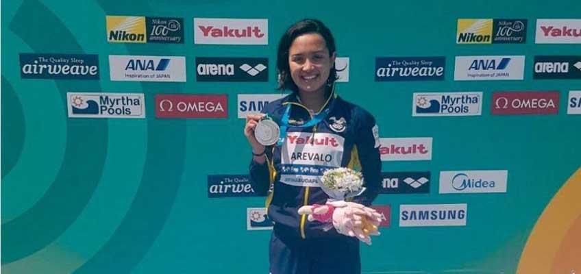 Samantha Arévalo subcampeona en natación