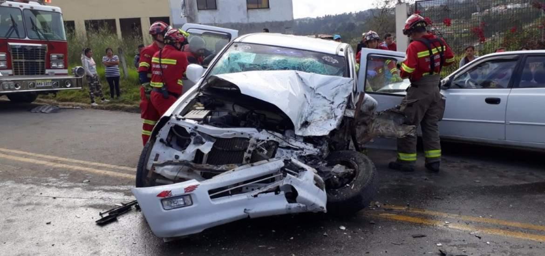 Triple accidente en Cuenca