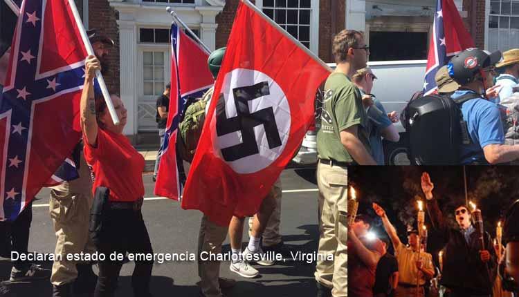 Virginia declarada en estado de emergencia en tras violentos incidentes en una marcha de supremacistas blancos