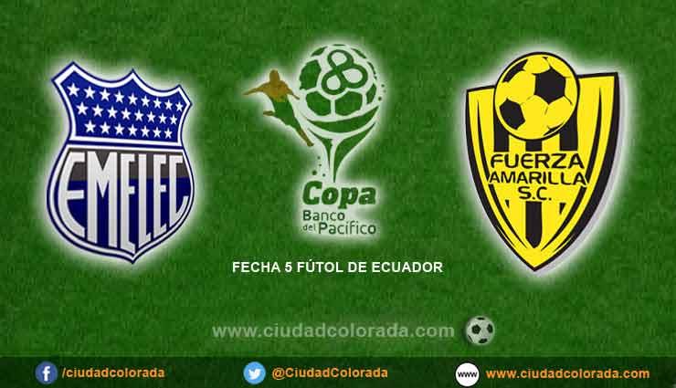Emelec vs Fuerza Amarilla fútbol