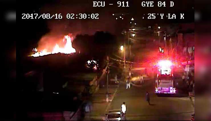 Guayaquil, Incendio, Bomberos, ECU911