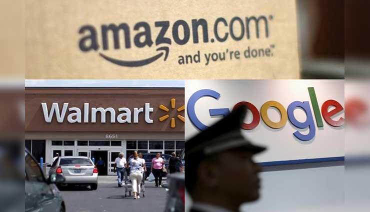 Google, Walmart, Amazon,, Comercio