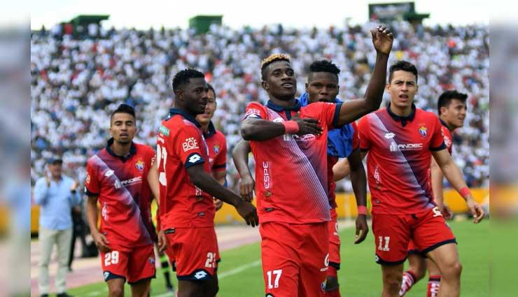 El Nacional, Liga de Quito, Fútbol, Resultados