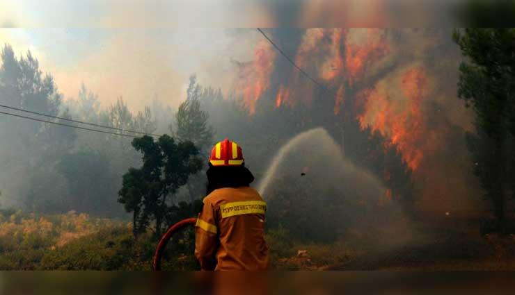 Incendio, Grecia, Bomberos