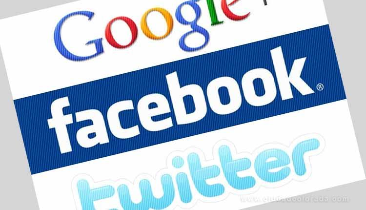 Google, Facebook , Twitter,rusa