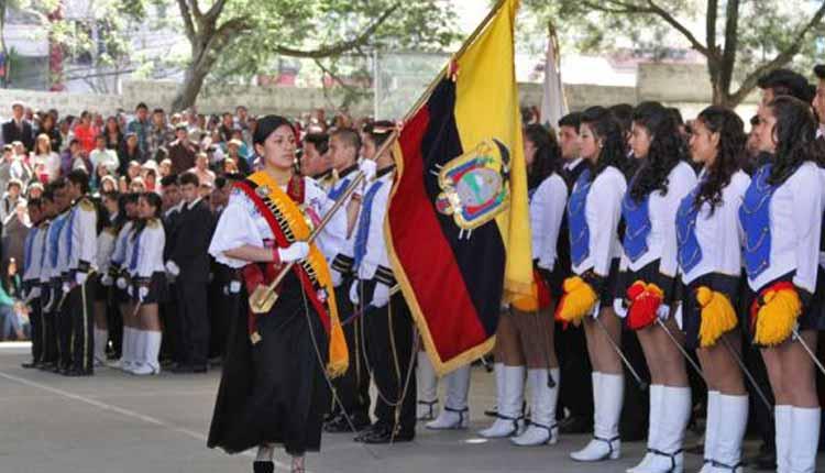 Juramento a la Bandera, Ecuador,