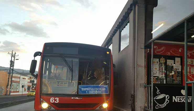 Transporte Publico, Quito, regreso a clases,