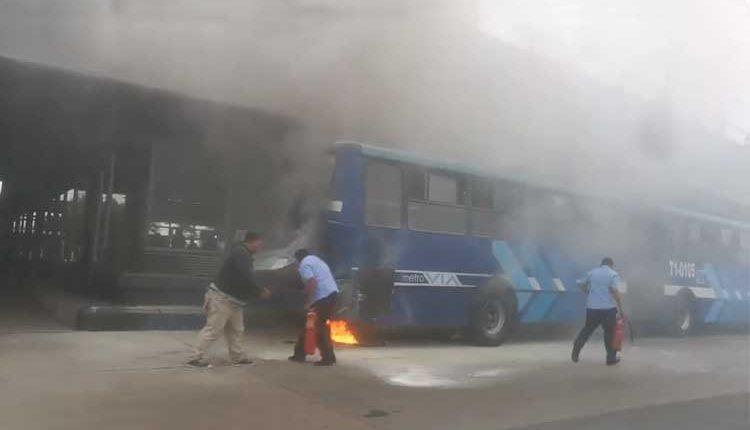 Guayaquil, Metrovía, Incendio,