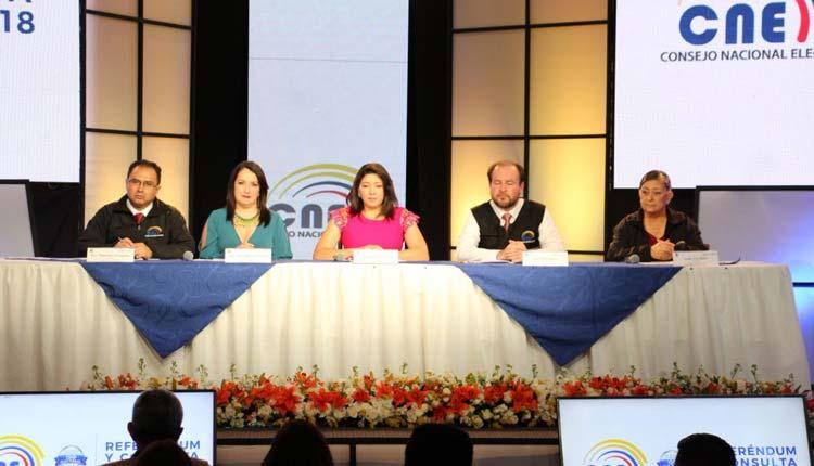 CNE, Ecuador, Consulta Popular,