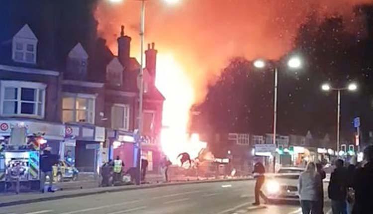Reino Unido, Explosión, Leicester,